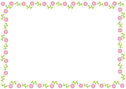 Frame-pretty flowers-pink