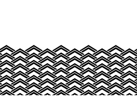Wave pattern _ Square shape _ Black