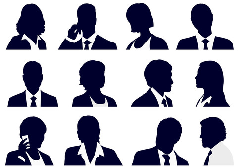 Business People Silhouette Set