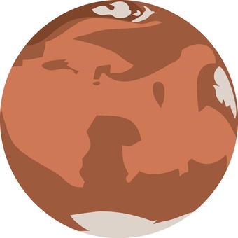 Mars Mars' planetary star object
