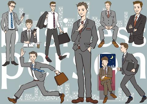 男性 スーツ ビジネスマン
