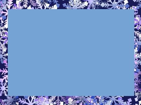 Snow crystal frame ④