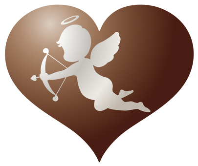 Cupid silver heart