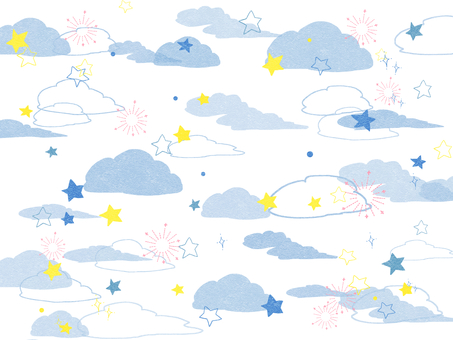 Clouds and stars 01