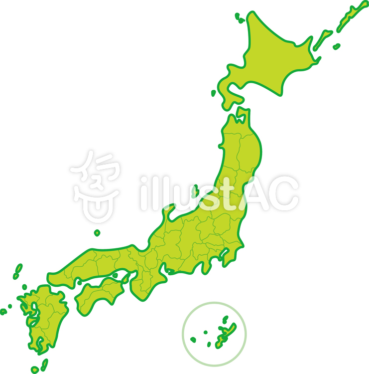 イラスト素材 : 日本地図 都道府県
