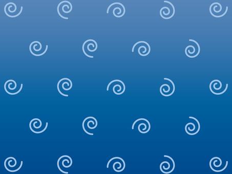 벽지 소용돌이 블루