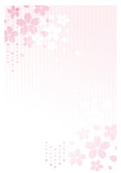 Cherry blossom postcard background