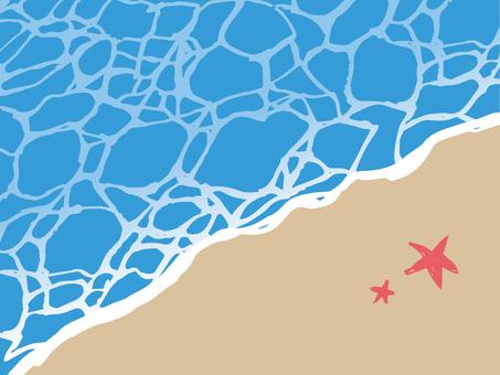 Sandy beach illustration