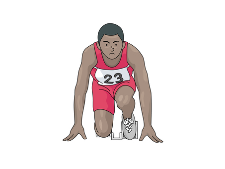 Athlete at the start position