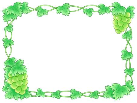 緑のブドウと蔓のフレーム