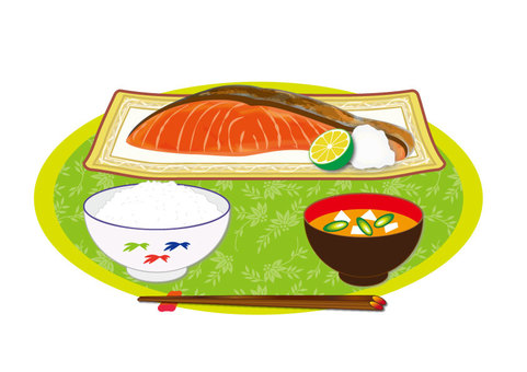 Salmon (baked salmon set menu)