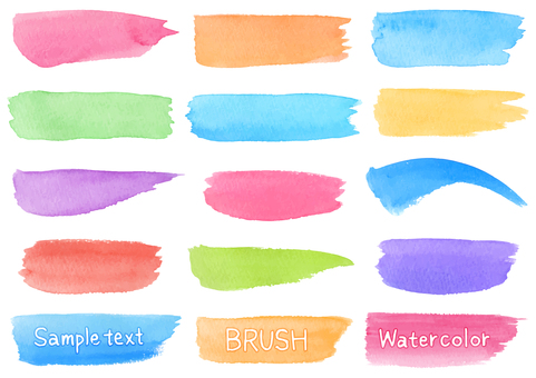 Watercolor material 14 brush