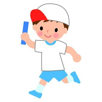 A boy with a baton