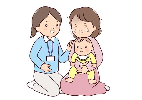 Public health nurse and mama tears