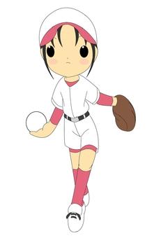 Softball girls