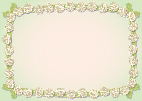 White clover frame