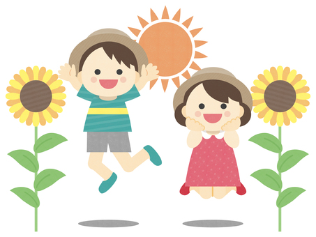 Summer_Children_Sunflower_Illustration