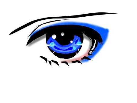 Left eye icon Blue