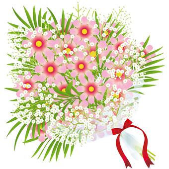Cosmos & bouquet of grazing grass 23