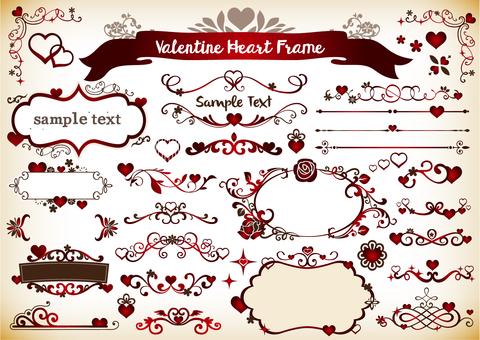 Valentine illustration 18 frames