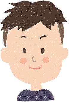 Face icon _ male 2