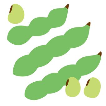 Spring vegetables broad bean