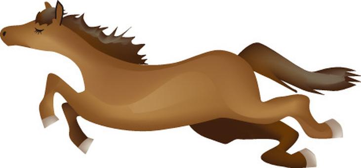 Running horse _ Gradet