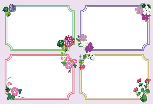 Various flower frames