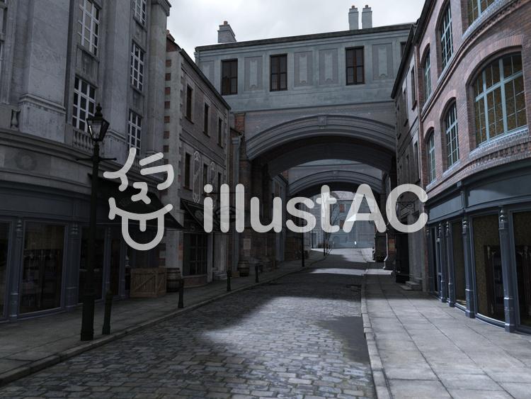 オールド・ロンドン・ストリートのイラスト