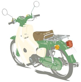 오토바이 자전거 녹색