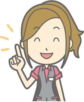 Pachi Women's Clerk - Pointing Nico Nico - Bust