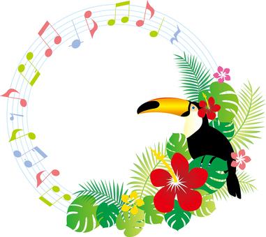 원형 열대 음악 프레임