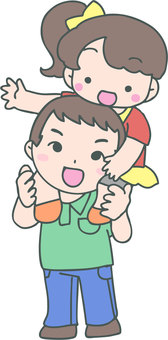 Kataguruma (father and girl)