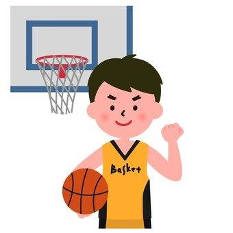 男孩的籃球