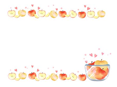 林檎と梨のフレーム