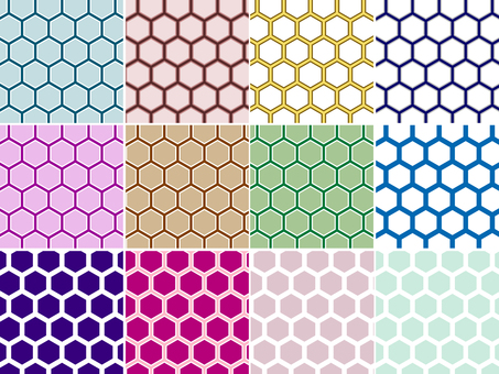 ai Japanese Pattern Pattern Horny Background 12 sets