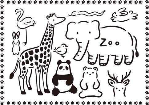 動物園のシンプルイラスト