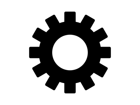 Gears setting gear parts silhouette