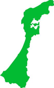 Ishikawa Prefecture _ Silhouette _ green