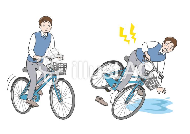 Ac保険 男性 自転車 交通安全 事故 イラスト No 1451394