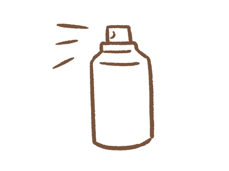 Spray can of white background