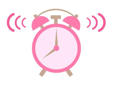粉紅色的鬧鐘