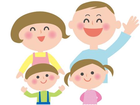 Family Illustration 4 people -2