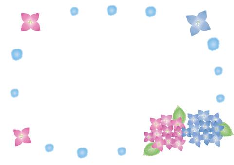 Hydrangea frame (watercolor style)