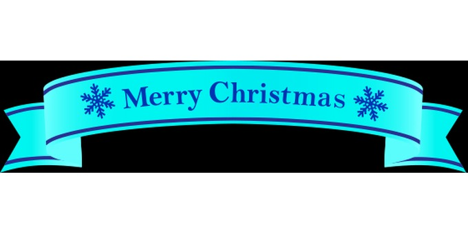 Christmas ribbon label