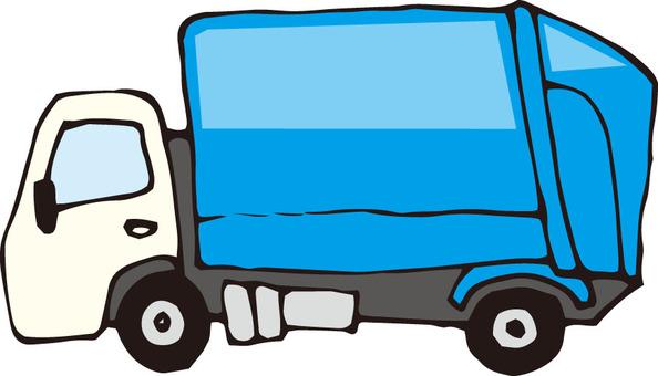 Garbage truck (sideways)