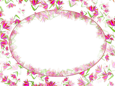 Flower frame (circular frame)