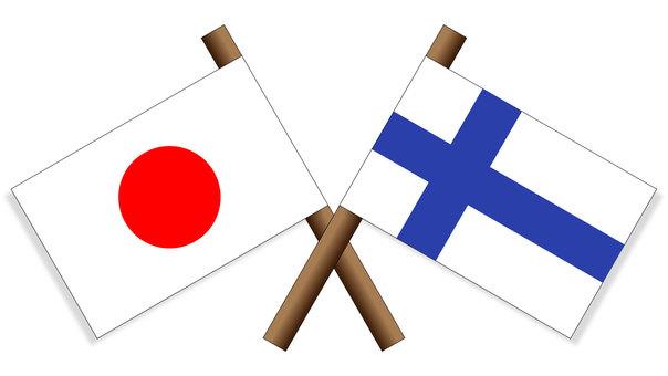 Flag Japan × Finland