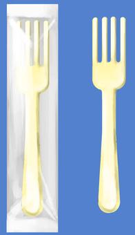 Plastic fork bag