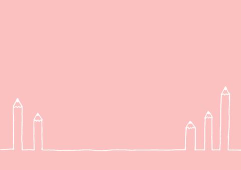 연필 핑크 화이트